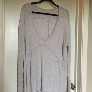 Free People gray Sunset thermal size M